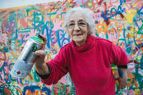 Senior Citizens Learn to Graffiti