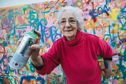 Senior Citizens Learn to Graffiti