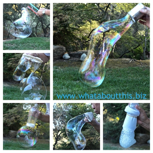 Homemade Bubble soultion and Bubble Wands